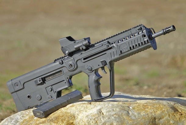 "The TAVOR X95 is available in 5.56 in 16.5"" barrel for right and left handed shooters"