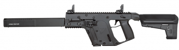 The Kriss Vector Gen.II CRB is the civilian-legal long-barreled model of the line; a short-barreled model is also available