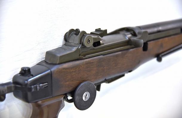 Un dettaglio del Beretta BM59 visto a HIT Show