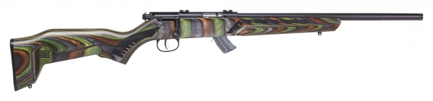 Savage Arms Mark II Minimalist rifle, green stock, right side