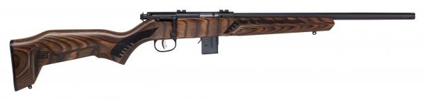 Fucile Savage Arms 93R17 Minimalist, calcio marrone, lato destro