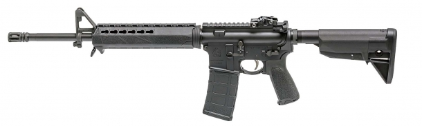 Left side of Springfield Armory's SAINT 5.56mm rifle