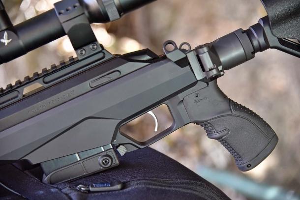 Anche l'impugnatura del Tikka T3x TAC A1 è di tipo AR-15