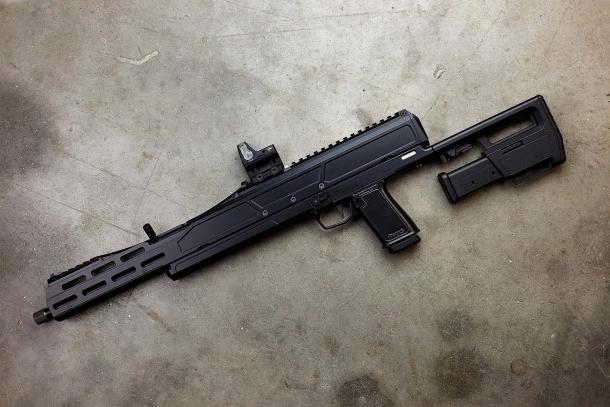 Trailblazer Firearms Pack9 semi-automatic pistol-caliber rifle – unfolded