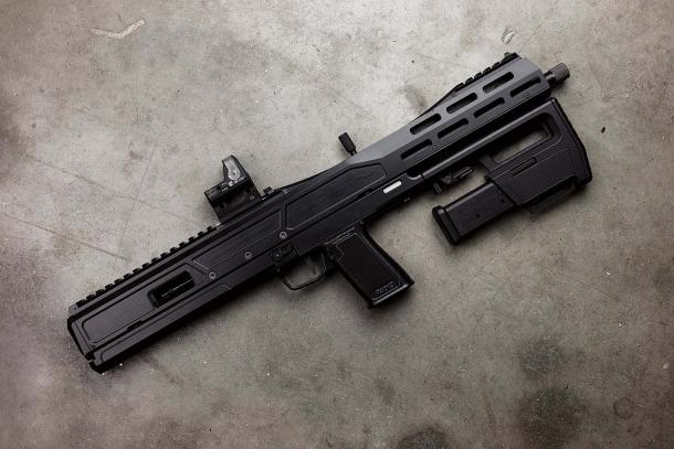 Trailblazer Firearms Pack9 semi-automatic pistol-caliber rifle – folded