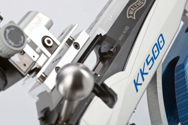 The bolt handle of the KK500