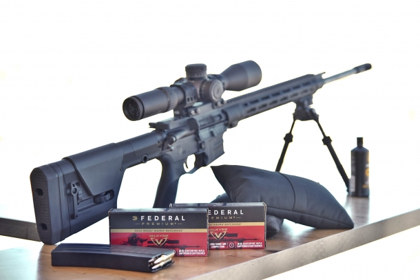 The Savage MSR-15 Valkyrie is chambered for the new Federal Premium Ammunition .224 Valkyrie cartridge