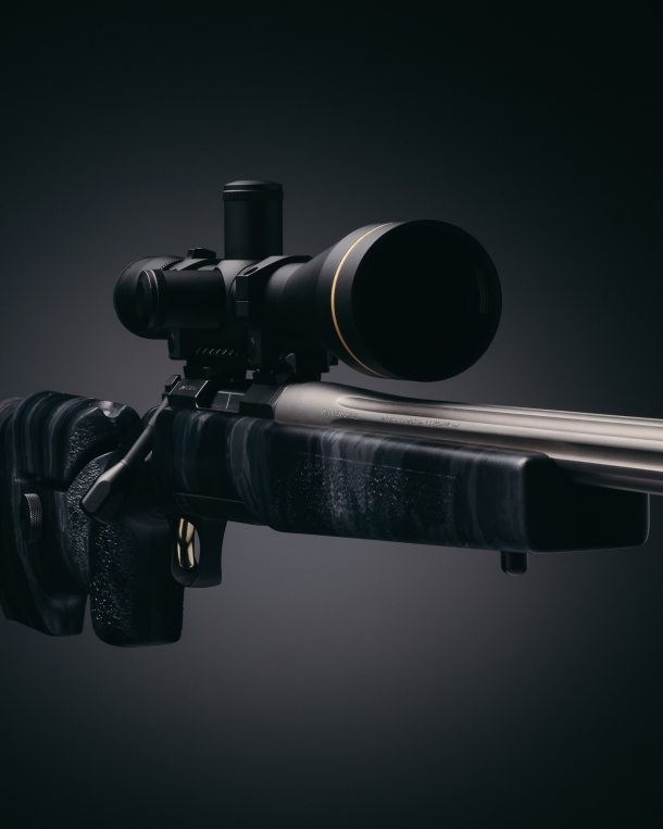 The McMillan A3-5 stock of the new X-Bolt rifle variant features an A-TACS LE camo finish
