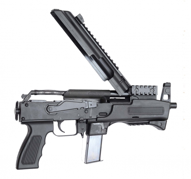 Chiappa's AK9 is built around a steel receiver and can be adapted to use Beretta or Glock magazines