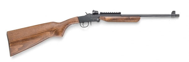 "Chiappa's Little Badger carbine is also available in a ""Deluxe"" variant with wooden furniture"