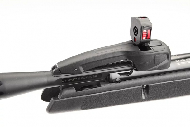 The multi-shot magazine is inserted into its slot