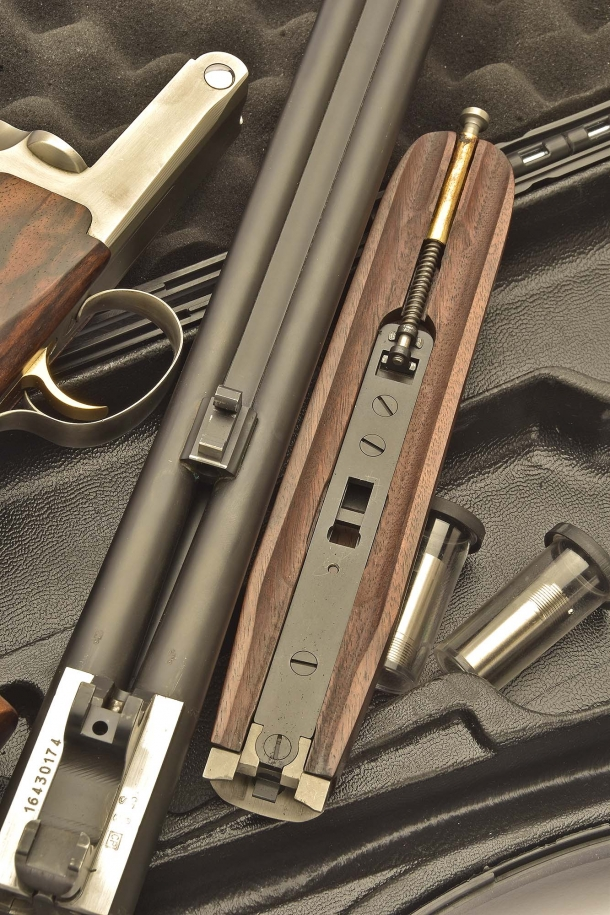 Barrel and forend, disassembled