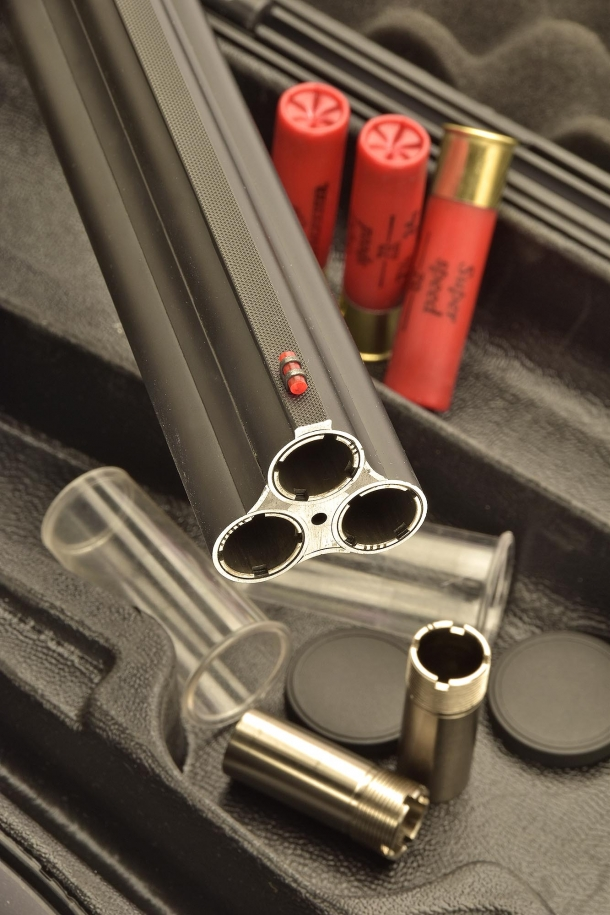 The muzzle view, with 3 chokes inserted