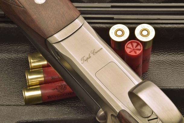 Il petto di bascula, con il nome del fucile