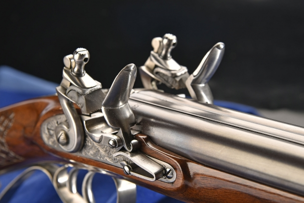 Pedersoli double barrel flintlock shotgun