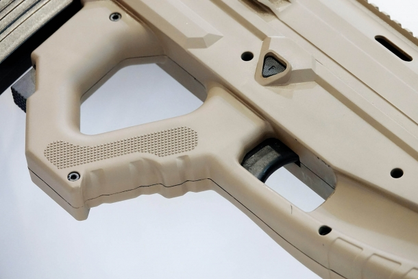The Uzkon UNG-12 semi-automatic shotgun offers intuitive controls