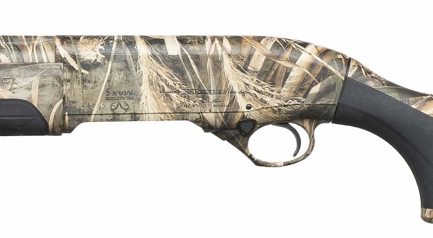The Beretta A400 Xtreme Plus is also available in black and Mossy Oak Bottomland camo