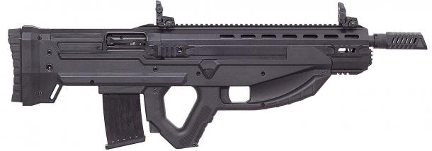 Lo Uzkon UNG-12 è un fucile semi-automatico a canna liscia dalle linee estremamente futuristiche