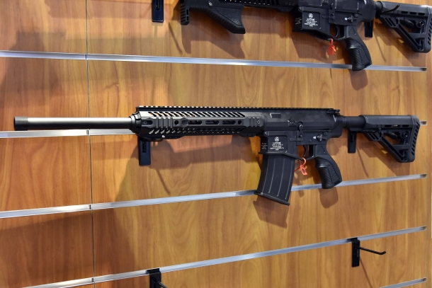 The XTR-12 is an AR-10 based magazine-fed, semi-automatic shotgun