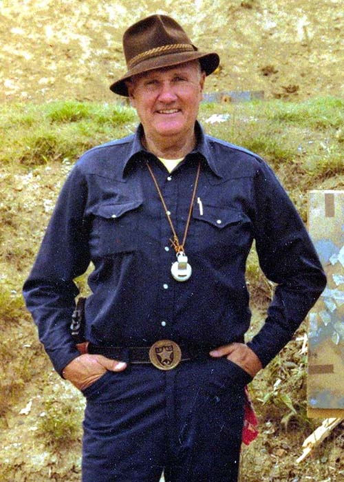 Jeff Cooper in the late 1970s – back at the times of the Gunsite Academy