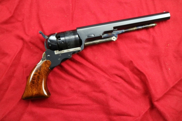 With the widespread diffusion of the revolver (in the picture an Uberti replica of a Colt Paterson) the need for effective firearms' mechanism lubrification became even more relevant.
