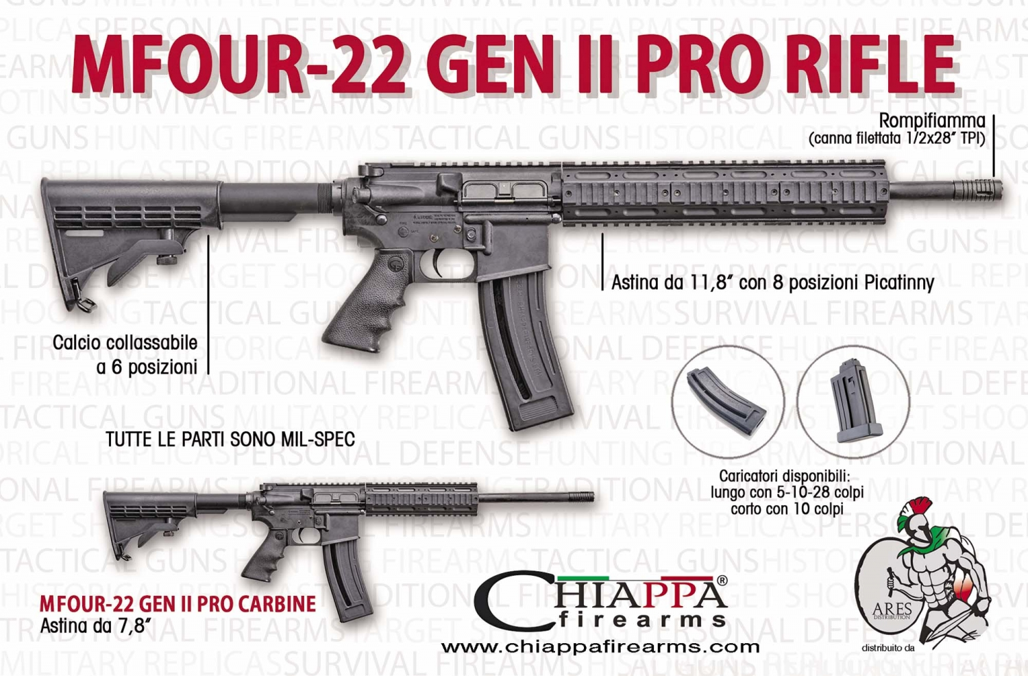 .22 caliber carbines: Chiappa M1-22 and Mfour-22