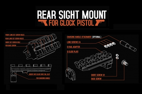 Brownells: Strike Industries GSR Rear Sight Mount per Glock