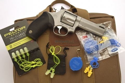 Peltor Sport and 3M Ultra Fit earplugs: pocket protection, from Brownells