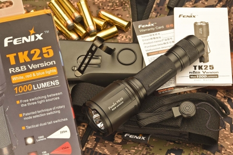Fenix TK25 R&B: a new 1000-lumen tactical flashlight
