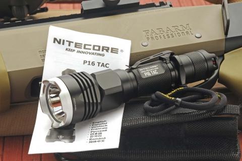 Nitecore P16 TAC, the precise tactical flashlight