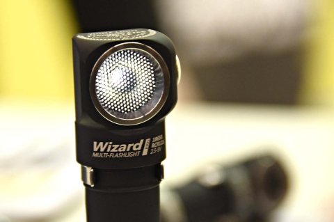 The ArmyTek Wizard Pro flashlight is able to power out to 1600 lumens