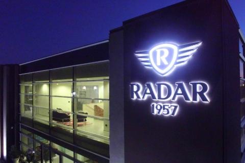 La sede dell'azienda Radar 1957