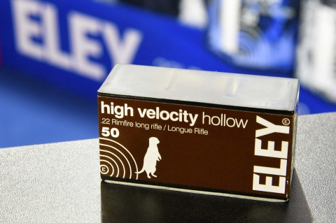 Eley High Velocity Hollow .22 Long Rifle hunting ammunition