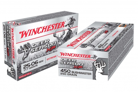 New Winchester Deer Season XP ammunition in .25-06 Remington and .450 Bushmaster