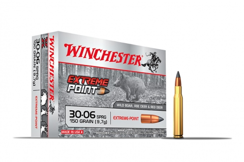 The new Winchester Extreme Point ammunition, with large polymer bullet tip