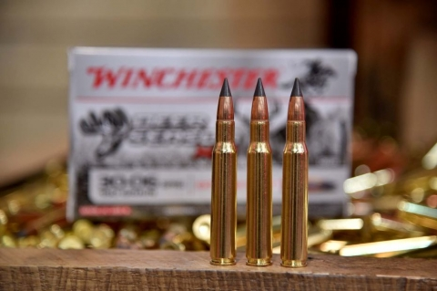 The Winchester Extreme Point hunting rifle ammuntion