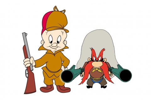 """A farewell to arms"": the reboot of the Looney Tunes series see iconic hunter Elmer Fudd and frontiersman stripped of their guns"