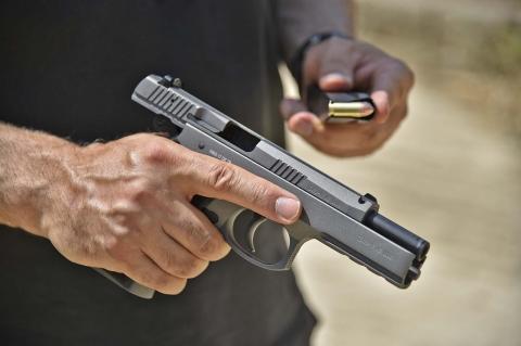 La pistola Canik P120 Tungsten