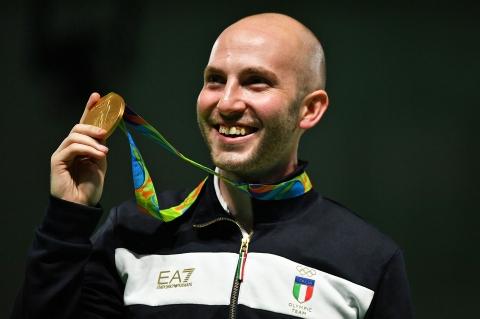 Il campione Niccolò Campriani, Oro alle Olimpiadi 2016 di Rio de Janeiro