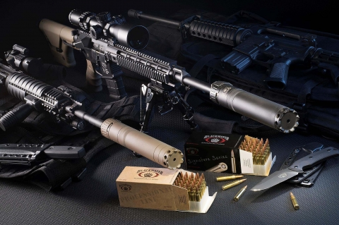 BLACKWATER AMMUNITION Universal Silencer System: the first universal AR-platform quick-mount silencer system