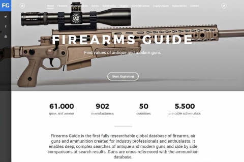 Firearms Guide, the ONLINE search able database