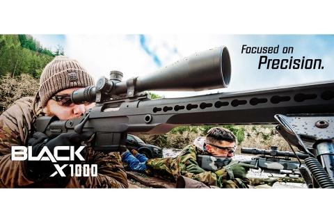 Nikon BLACK X1000 and Nikon BLACKFORCE1000 riflescopes, new from Nikon Sport Optics