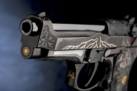The 98FS Demon pistol marks the launch of the Beretta Premium Custom Pistols project