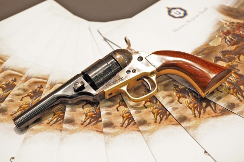 Uberti 1862 Police Conversion, a .380 ACP pocket revolver