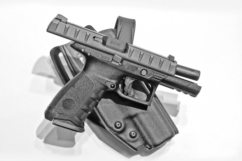 Beretta showcased the APX pistol at the 2017 HIT Show
