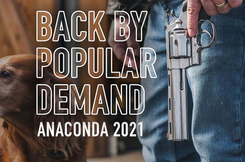 """The legendary Colt Anaconda revolver returns in 2021 in two versions, with 6"""" and 8"""" barrels"""