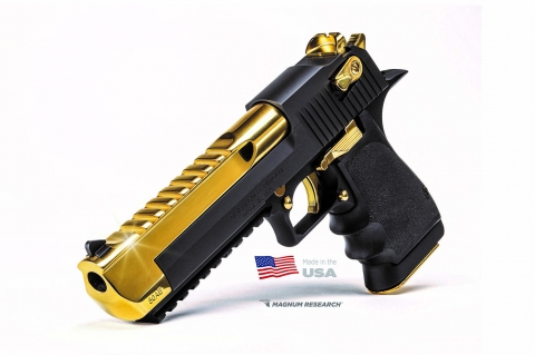 "Pistola Desert Eagle ""Deagle Black & Gold"""