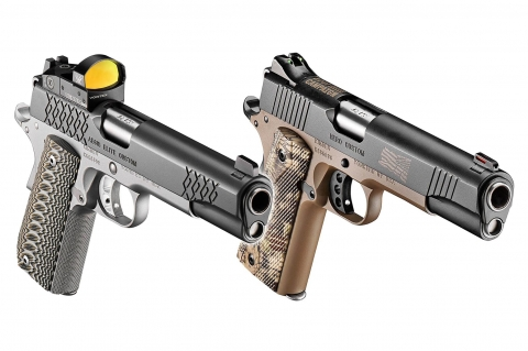Kimber Aegis Elite Pro and Hero Custom 1911 pistols