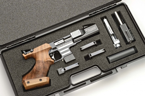 Pardini All in One: a Pardini model HP with the conversion kit for the Rapid Fire discipline