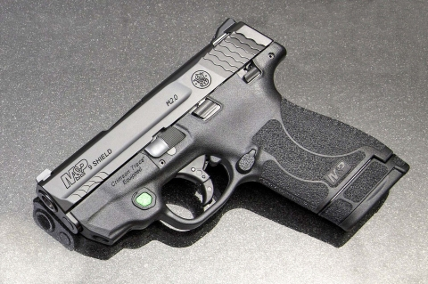 Smith & Wesson M&P ShieldM2.0Pistolnow available with Green Laser